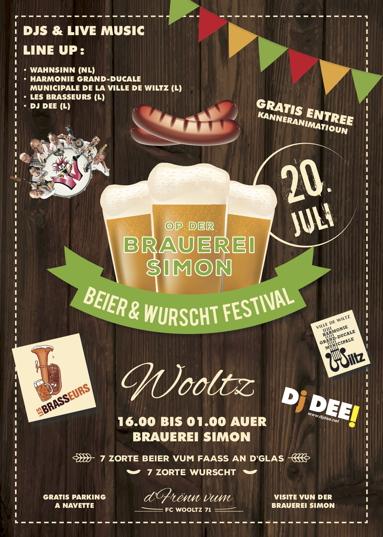 Affiche Beier a Wurscht festival 2019 print-1